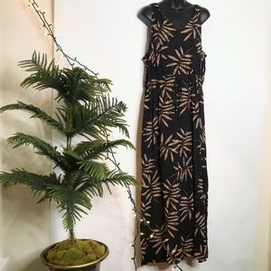 A New Day Maxi Dress with Two Splits & Drawstring